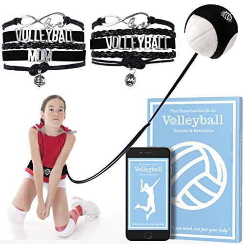 Volleyball Training Equipment for Practice Serving, Setting & Spiking for Serve, Includes Mother Daughter Bracelets & Volleyball Training Ebook