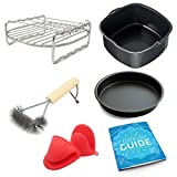 Air Fryer Accessories Grill Rack Baking Pan Bundle for Phillips...