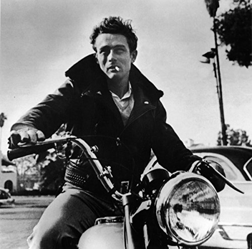 - James Dean On His Motorcycle Poster Art Photo Hollywood Posters Artwork 12x12
