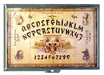Ouija Board Ancient Egypt Double Sided Cigarette Case Id Holder Wallet With Rfid Theft Protection