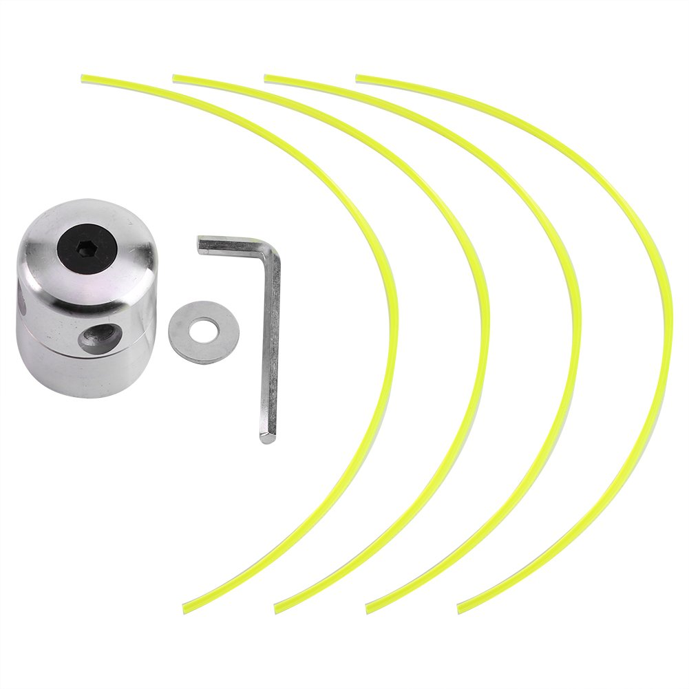 Fdit Carretes para Recortadoras de Cable Cabeza de Aluminio Condensador de Ajuste de Hierba Bobina con 4 Líneas Cabeza de Corte de Cepillo para Cortadora de Cepillo de Hierba