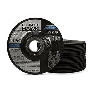 25 Pack Black Hawk 4-1/2 x .045 x 7/8 Arbor Depressed Center Cut Off Wheels - Metal & Stainless Steel Type 27
