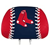 ProMark Boston Red Sox PRINTED Full Color 2-pack Head Rest Covers Elastic Auto Baseball