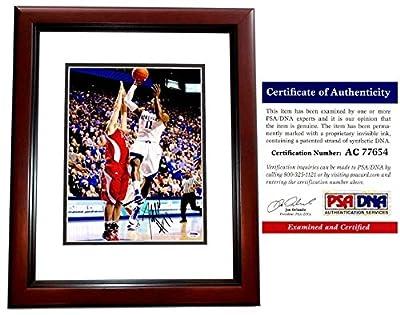 John Wall Autographed Kentucky Wildcats 11x14 Photo - Black Custom Frame - PSA/DNA Authentic