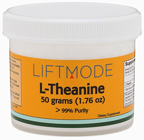 LiftMode L-Theanine 99+% Pure Bulk Powder - 50 Grams (250 Servings at 200 mg) | #Top Amino Acid Supplement | For Focus, Stress Relief, Weight Loss, Pre Workout |Vegetarian, Vegan, - Gaba Powder Pure
