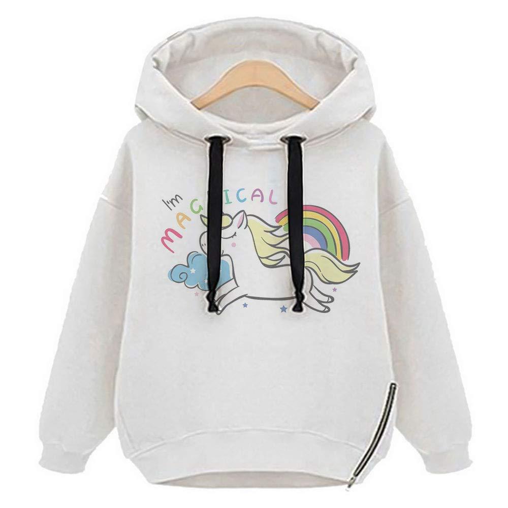 Vertvie Damen Gefüttert Kapuzenpullover Sweatshirt Hoodie mit Seitenverschluss Strickpullover Langarmshirt Bluse Jumper Hemd Pulli X1-HMKX-K0W6