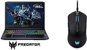"Acer Predator Helios 300 Gaming Laptop, Intel Core i7-9750H, GeForce GTX 1660 Ti, 15.6"" Full HD 144Hz Display with Acer Predator Cestus 330 Gaming Mouse"