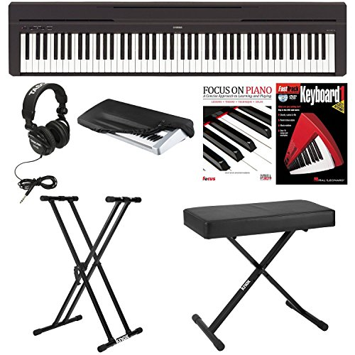 Yamaha P45B Digital Piano with Knox Bench,Knox Double X S...