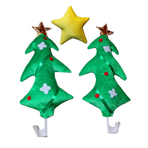 LUOEM Christmas Car Decoration Kit Party Supply Christmas Trees Yellow Star Auto Costume Party Accessory