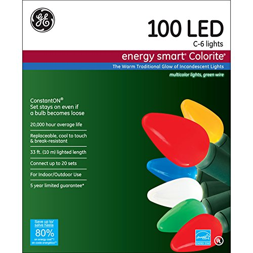 Ge 100 Led C6 Lights in US - 1