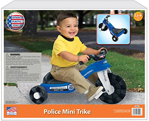 American Plastic Toy Police Cycle Plastic Tricycle