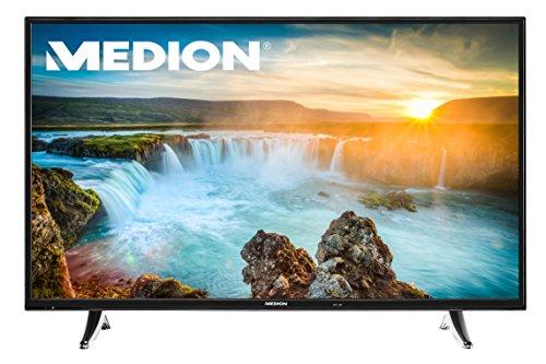 MEDION LIFE Premium TV X17032 (MD 31206) - 108 cm (43 Zoll) Ultra HD 4K (UHD) Smart-TV Fernseher (Modell 2017) mit App Steuerung per Smartphone oder Tablet, HD Triple Tuner (DVB-T2 HD, DVB-C, DVB-S2), CI+, WLAN, Bluetooth, 4xHDMI, inkl. Fernbedienung