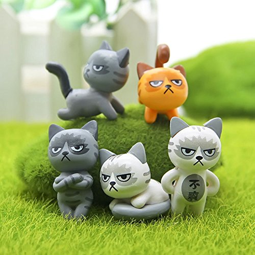 Cido Mini Unhappy Cat Unhappy Cat Figure Unhappy Cat Action Figure Lovely 6pcs/Set Decoration]()