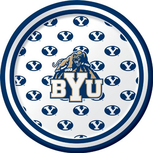 Creative Converting 8 Count Byu Cougars Paper Dessert Plates