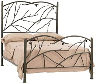 product image for Stone County Ironworks Iron Bed with Twig Designs, Twin Black