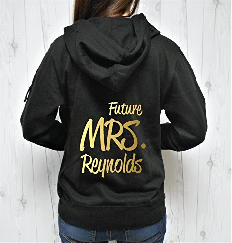 Future Mrs Last Name Hoodie, Future Mrs Hoodie, Future Mrs Zip-Up, Custom Last Name Hoodie, Personalized Name Hoodie Zip-up by Strong Girl Clothing