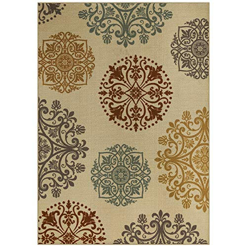 (Maples Rugs Area Rugs - Hazel 7 x 10 Non Slip Large Area Rugs [Made in USA] for Living Room, Bedroom, and Dining Room, Multi)