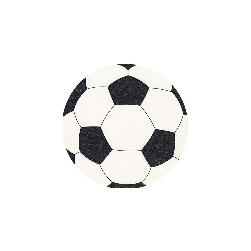 Set of 20 Napkins Stamped Football 33x33 cm