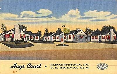 Elizabethtown Kentucky Hays Court Street View Antique Postcard K47395