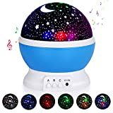Kids Star Night Light, 360-Degree Rotating Star Projector, Desk Lamp 4 LEDs 8 Colors Changing with USB Cable and Battery, Best for Children Baby Bedroom, Unique Gift for Birthday