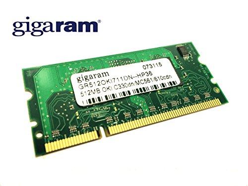 (Gigaram 512MB Okidata C330, C530, C610, C711 SODIMM (p/n 70061901) Upgrade Expansion)