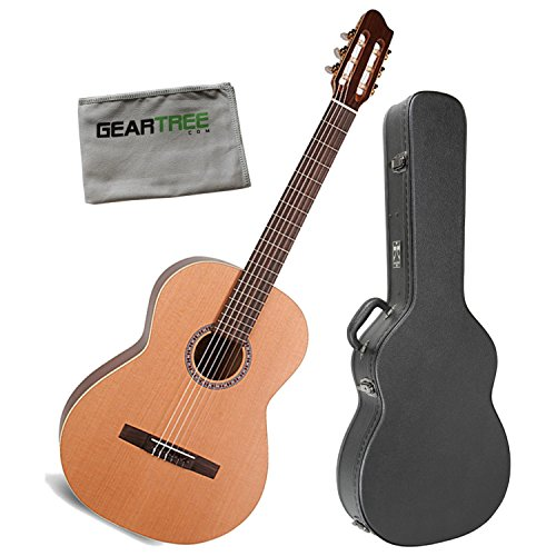 La Patrie 45419 Etude QI Classical Guitar with Electronics w/Case and Polish Cl (La Patrie Classical Guitars)