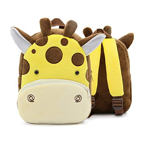 Kids Backpack, Giraffe Design Backpacks for Kids &Toddler & School Students, 10 inches Yellow