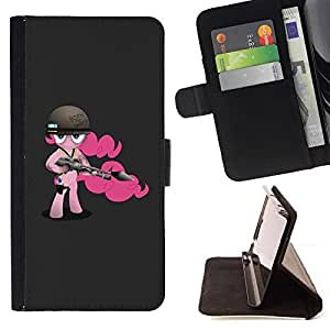Jordan Colourful Shop - party girl pink pony cartoon born quote For HTC One M9 - < Leather Case Absorci????n cubierta de la caja de alto impacto > -