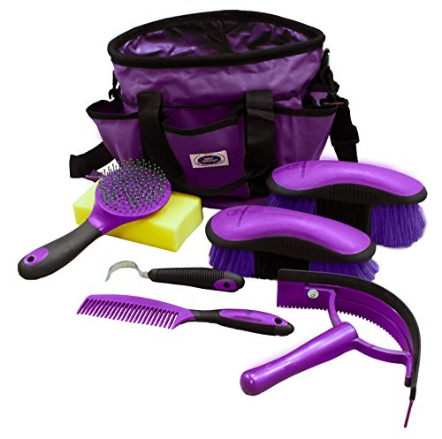 Derby Originals New Ringside 8 Items Horse Grooming Kit at Wholesale Price (Purple)