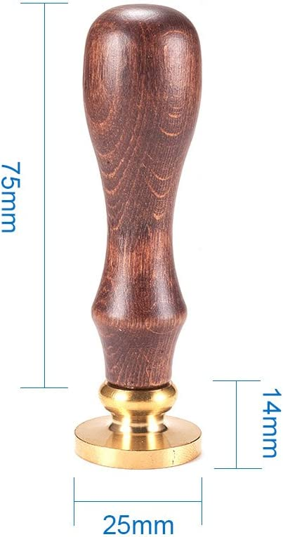 75 mm 25 x 14 mm PandaHall Elite Forma mixta. Letra A Cu/ño de lacre con mango de madera y sellos de lat/ón con las letras del alfabeto 25x14mmx75mm