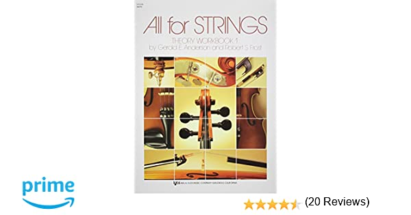 Amazon.com: 84VN - All For Strings Theory Book 1: Violin ...