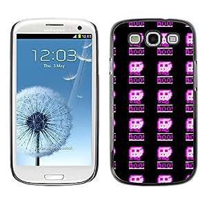 iKiki-Tech Estuche rígido para Samsung Galaxy S3 - Pixelated Pattern
