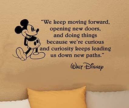 Walt Disney Mickey Mouse We Keep Moving Forward Wall Quote Vinyl