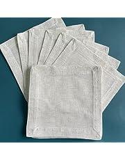 YPHBPF 12 st linne servett tetraiskt tyg servett matbord servetter bröllopsfest 5