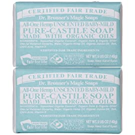 Dr. Bronner's Magic Soaps Pure Castile Bar Soap, Baby Mild 5 oz 59 100% natural This product contains glycerin Mild and gentle for baby's