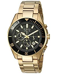Bulova Men's Marine Star 98B250 Gold Stainless-Steel Quartz Watch
