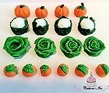 Edible Vegetables gardening cake topper decoration (2x2)