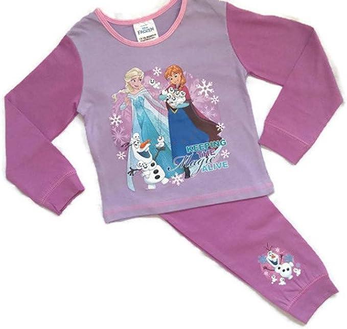 Keeping The Magic Alive Disney Kids Official Frozen Long Pyjamas PJs Set Childrens Girls Size 1-4 Years