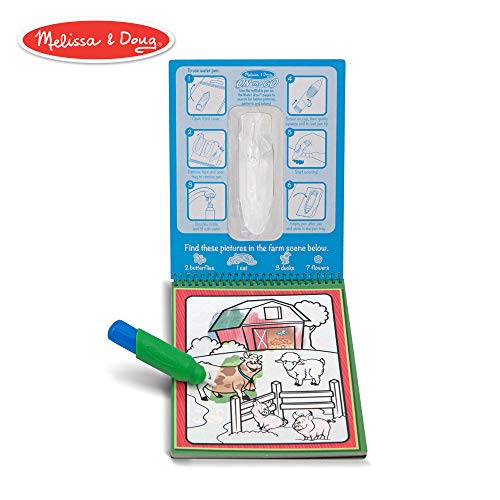 Melissa & Doug Water Coloring & Painting Book,  (Water Wow Animal - On the Go Travel Activity)]()