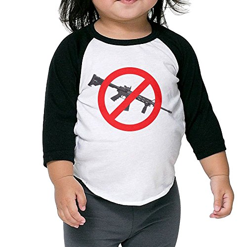 Price comparison product image Hot Children's Middle Sleeve T Shirt Tops - Ban Bump Stocks Anti Automatic Guns