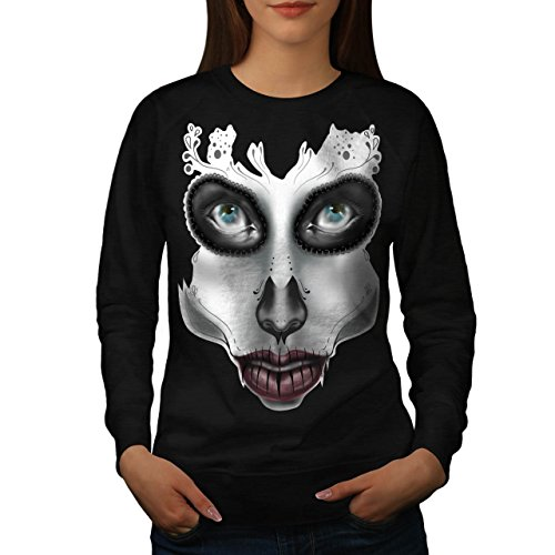 [Sugar Skull Make Up Beauty Face Women NEW S Sweatshirt | Wellcoda] (Sugar Skull Costume Tumblr)