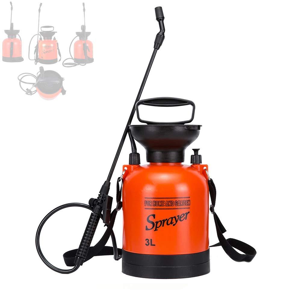 Moutik Garden Sprayer, Pressure Portable Sprayer 0.8 Gal Hand Held Compression Sprayer with Shoulder Strap for Fertilizers Mild Cleaning by Moutik