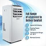 portable a c - DELLA Air Conditioner Cooling Fan 10000 BTU Portable Dehumidifier A/C Remote Control Included Window Vent Kit White