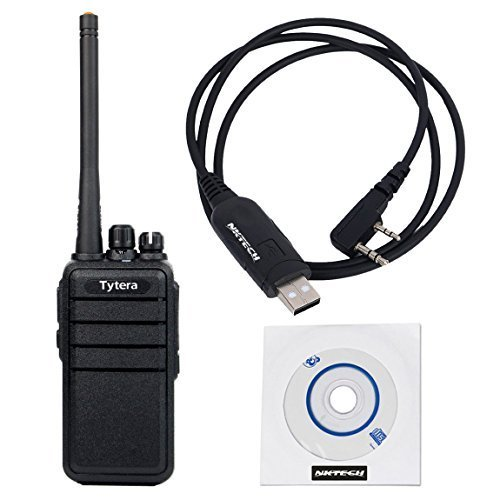 10 Pack NKTECH USB Programming Cable & TYT TC-3000S UHF 400-480MHz 16CH 8W CTCSS DCS VOX Scrambler COMP Monitor Two Way Radio Walkie Talkie by NKTECH