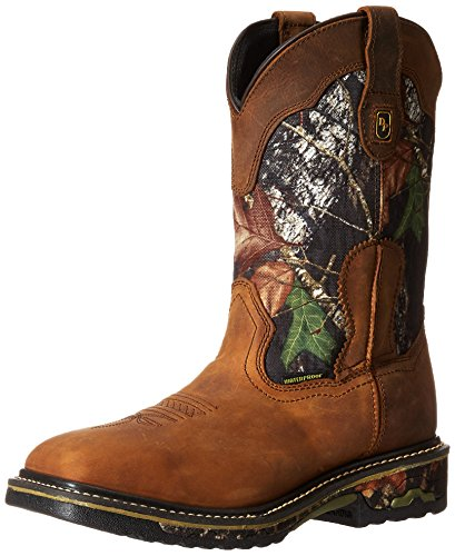 Dan Post Men's Hunter Work Boot, Saddle Tan/Camo, 12 D US