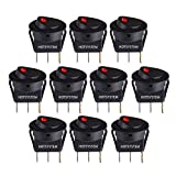 HOTSYSTEM New 10PC Car Truck Rocker Toggle LED Switch Red Light On-Off Control