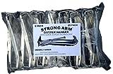 Quick Screw 6'' 25 pack Heavy Duty Hidden Rain Gutter Bracket Hook Hangers with Clip ''Strong Arm'' Brand