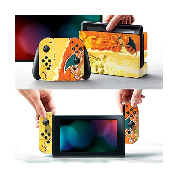 Controller Gear Nintendo Switch Skin & Screen Protector Set - Pokemon - Pikachu Vs Charizard Set 1 - Nintendo Switch 2