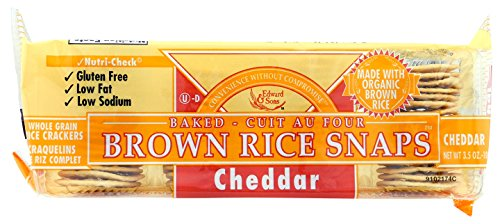 Brown Rice Snaps, Cheddar with Organic Brown Rice, 3.5-Ounce Packs (Pack of - Cheddar Reduced Fat