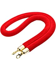 Hemobllo 1.5m Barrier Rope Crowd Control Lint Rope with Hooks (Red)